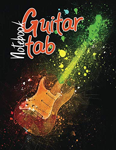 Guitar Tab Notebook: Blank Sheet Music with 6-String Guitar Tablature for Songwriters, Musicians, and Theory Students with 100 Large Sheets 8.5 x 11 inches