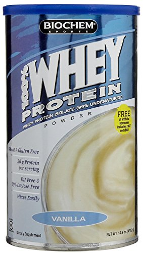 Biochem 100  Whey Protein  Vanilla  15 1 Ounces