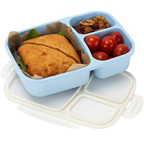 Leakproof, 3 Compartment, Bento Lunch Box,
