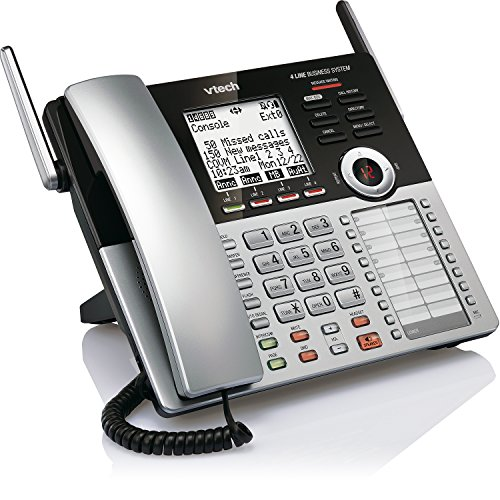 VTech CM18445 Main Console - DECT 6.0 4-Line Expandable Small Business Office Phone with Answering System by VTech