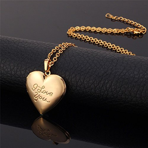 VirtualStoreUSA.com Locket I Love You Romantic Heart Necklace Pendant