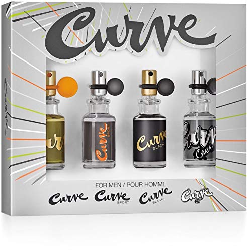 Liz Claiborne Curve Collection 4 Piece Gift Set for Men (Sport Claiborne Mini)