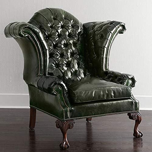 ソファー 居間のオフィスの寝室のためのラウンジのアクセントの椅子 設置しやすい軽量 (Color : Green, Size : One Size)
