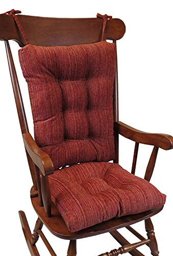 The Gripper Non-Slip Polar Jumbo Rocking Chair Cushions, Garnet