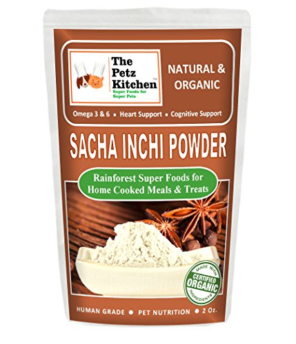 The Petz Kitchen by Natura Petz Organics PKITCHSACHA2OZ Sacha Inchi Nutritional Treat, 2 oz by The Petz Kitchen by Natura Petz Organics