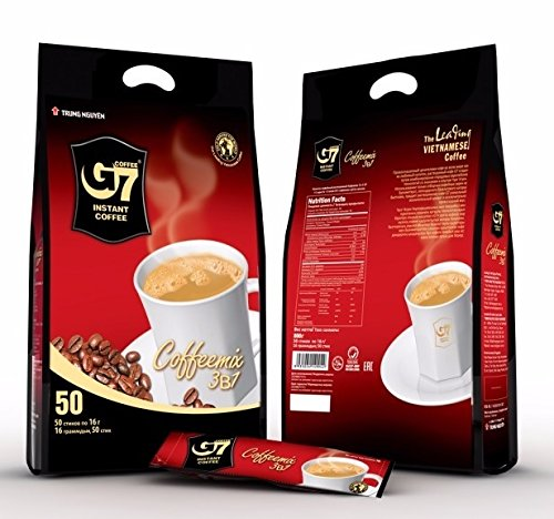 G7 3-in-1 Instant Coffee, 3-in-One 50 Sticks