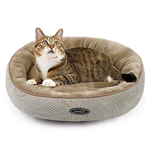 🥇 Pecute Cama para Gatos y Cachorros Ovalada