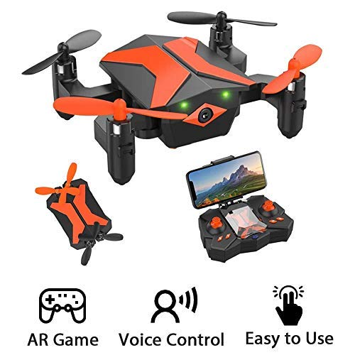 ATTOP Drones with Camera for Kids Drones for Kids & Beginners, AR Game Mode 480P RC Drone for Kids w/App Gravity/Voice Control/Trajectory Flight/Altitude Hold 360°Flip Mini Drone Foldable & Portable