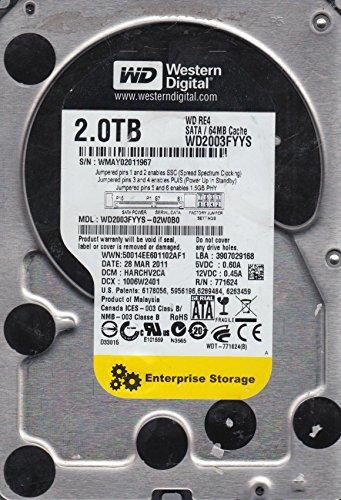 WD2003FYYS-02W0B0, DCM HARCHV2CA, Western Digital 2TB SATA 3.5 Hard (Western Digital Stock)
