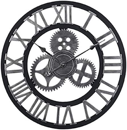 LightInTheBox Vintage 3D Wall Clock Farmhouse Country Style Large Size Clock Wall Decor