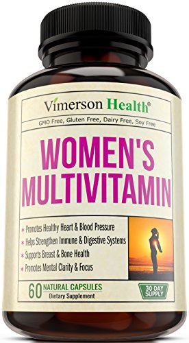 Women's Daily Multivitamin/Multimineral Supplement - Enhanced Vitamins & Minerals. Chromium, Magnesium, Biotin, Zinc, Calcium, Green Tea. Antioxidant Properties for Women. Heart & Breast Health.