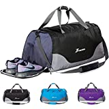 Youlerbu Packable Travel Duffle Bag With Shoe Compartment, Lightweight Water Repellent & Tear Resistant Sports Gym Bag For Men and Women For Sale
