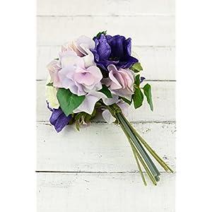 Pink & Purple Silk Hydrangea Ranunculus, Anemone Bouquet - Excellent Home Decor - Outdoor Indoor 41