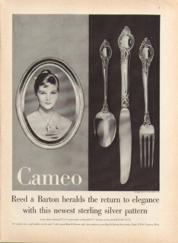 Carol Lynley for Cameo sterling silver ad 1959 ()