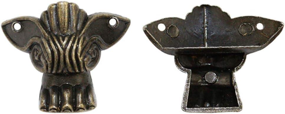VOSAREA 8 Piezas Patas de Caja Antiguas pies de Metal Protectores de Esquina pies de Caja de joyería Vintage Patas de Caja de Cofre de Madera Retro: Amazon.es: Hogar
