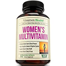 Women's Daily Multivitamin/Multimineral Supplement - Rich In Vitamins & Minerals. Green Tea, Magnesium, Biotin, Zinc, Calcium. Antioxidant For Women. Heart & Breast Health. Gluten Free Multivitamins