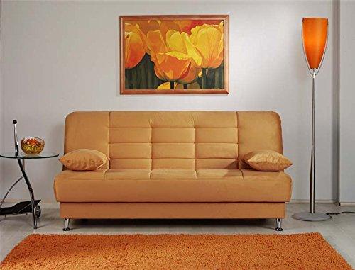 Vegas Rainbow Light Orange Convertible Sofa Bed by Sunset