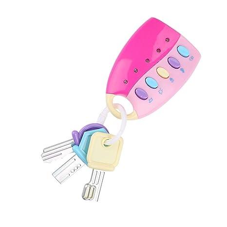 Llavero con mando a distancia musical para coche, con luces ...