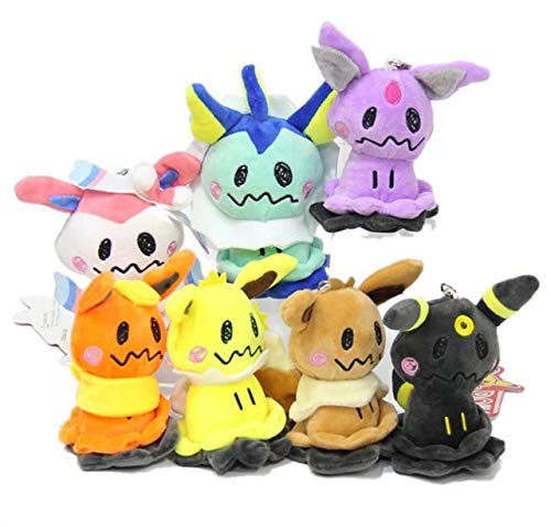 10/Lot 7 Styles Sylveon Eevee Umbreon Flareon Vaporeon Jolteon Espeon Cosplay Mimikyu 4