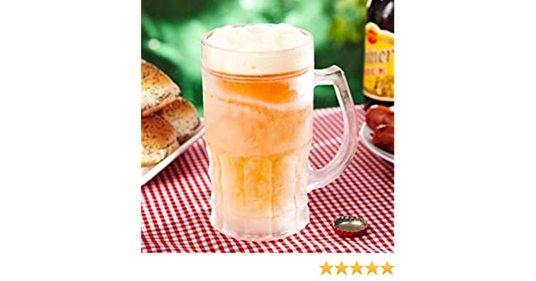 Jarra de cerveza refrigerado doble pared Transparente: Amazon.es ...
