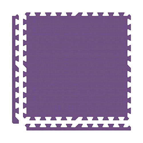 Alessco EVA Foam Rubber Interlocking Premium Soft Floors 8' x 8' Set Purple
