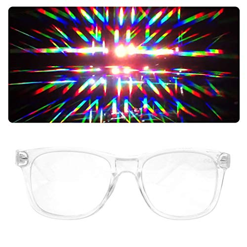 EmazingLights Diffraction Prism Rave Glasses (Trippy Rave Costumes)