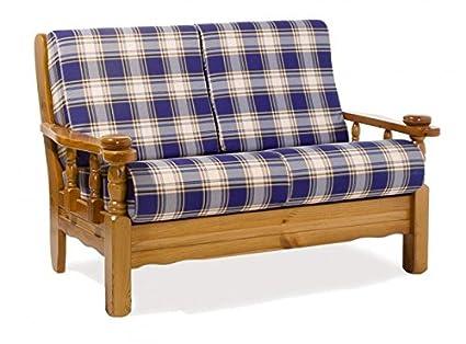 Divano Rustico Due Posti : Arredamenti rustici divano rustico posti finitura miele