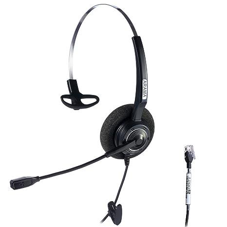 Arama Wired Headset Corded Mono w Noise Cancelling Mikrofon für NEC Aspire  Dterm Nortel Norstar Meridian fd30115de3