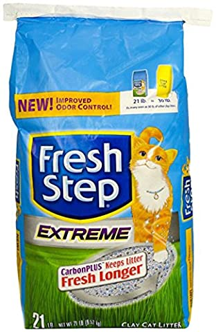 Fresh Step Extreme Clay, Non Clumping Cat Litter, Scented, 21 Pounds - Flush Litter Box