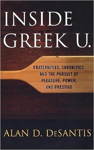 Amazon com: Inside Greek U : Fraternities, Sororities, and the