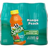 mango peach juice - V8 Splash, Mango Peach, 12 Ounce, 6 Count (Pack of 2) (Packaging May Vary)