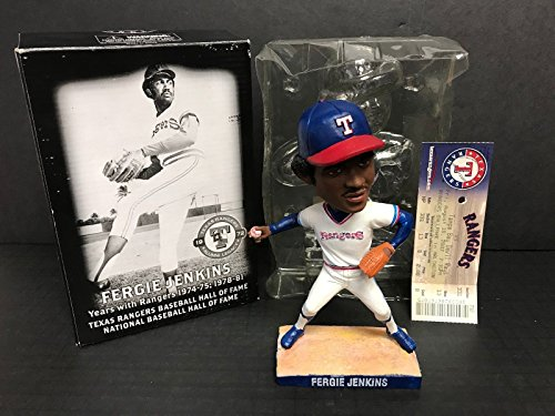 Fergie Jenkins 2007 Texas Rangers Bobblehead SGA with Game Ticket Stub