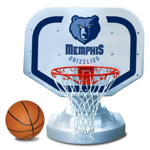 Memphis Grizzlies Pool - Poolmaster 72914 Memphis Grizzlies NBA USA Competition-Style Poolside Basketball Game