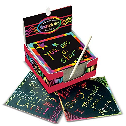 Scratch Art Notes are good Easter basket fillers for tweens and teens