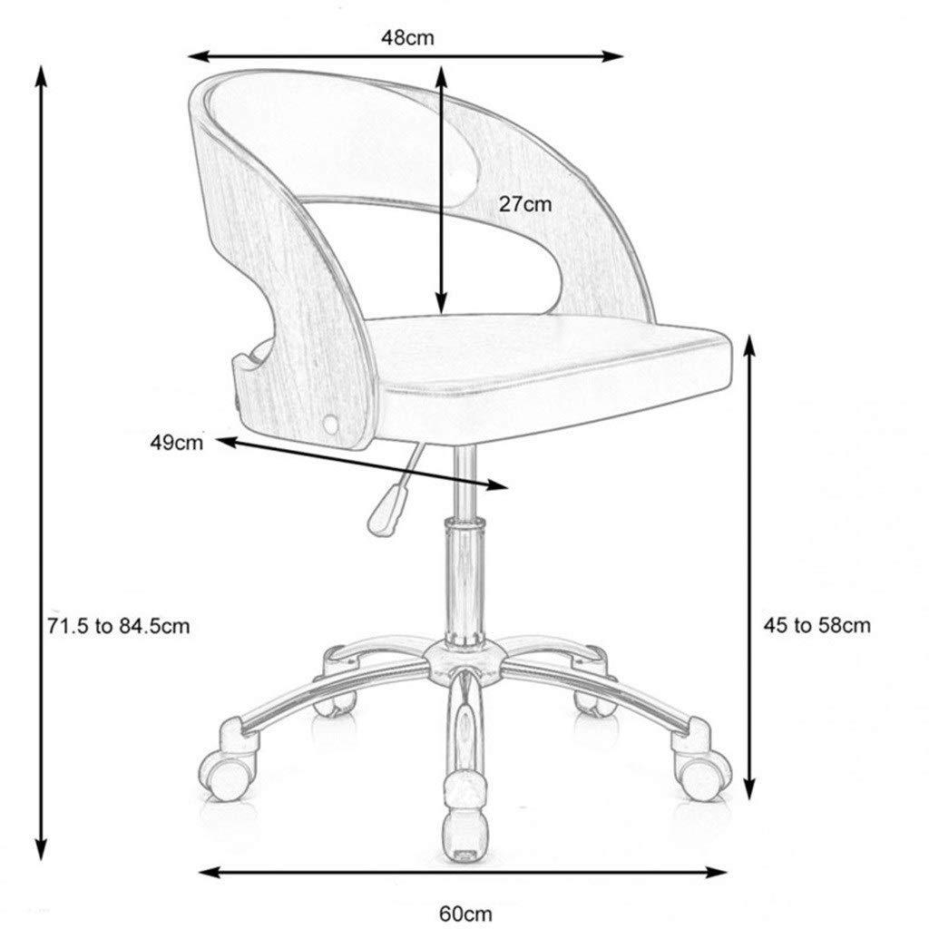 JIAJULL Trädatorstol, barstol, flexibel svängbar uppgift stol, hemmakontorsstol, studentstol, 360° roterande höjd justerbar, mjuk svampkudde Svart Vitt