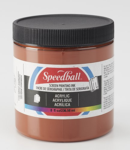 "Acryl Screen Printing Ink Size: 2.88"" x 2.88"", Brown"