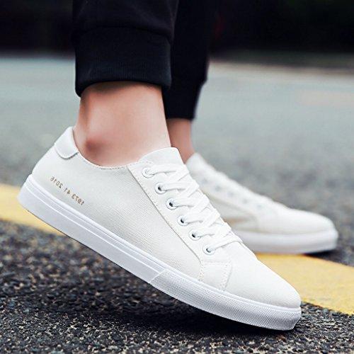 stile uomo scarpe Color tendenza stile Primavera 39 nuovo di selvatici casual uomo da Size basse Bianca giovanile Bianca YaNanHome da scarpe scarpe Scarpe in Espadrillas coreana IUwqv