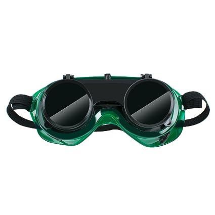 Enshey Gafas de soldar, gafas de protección para los ojos, antigolpes, de doble