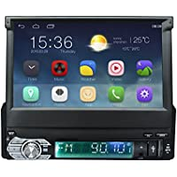 Ezonetronics Android 5.1 Quad Core Car Radio Stereo 7 inch Capacitive Touch Screen High Definition 1024x600 GPS Navigation Bluetooth USB SD Player 1G DDR3 + 16G NAND Memory Flash CT0008