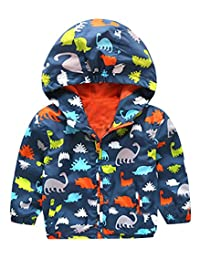 HARVEY JIA Baby Toddler Outerwear Jacket Soft Windproof Zipper Hooded Jackets Coat
