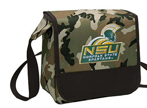 Broad Bay Camo Norfolk State University Lunch Bag Shoulder NSU Spartan Lunch Boxes