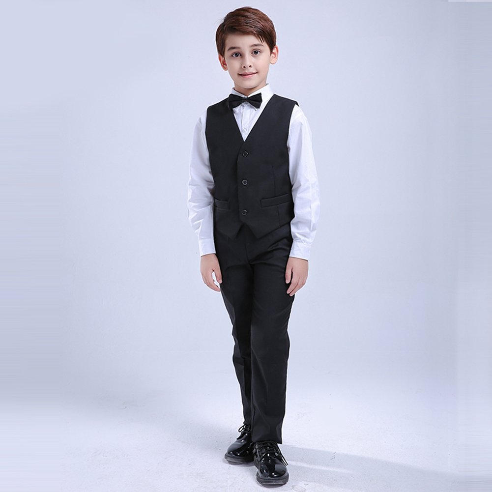 90b8d42e444b Amazon.com  Dreamowl 7 Pcs Boys Formal Blazer Children Tuxedo Shirt ...
