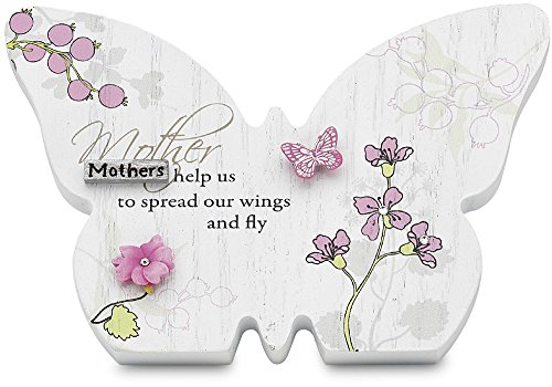 Mark My Words Self Standing Butterfly Plaque with Mother Saying, 4-3/4 by 3-1/4-Inch