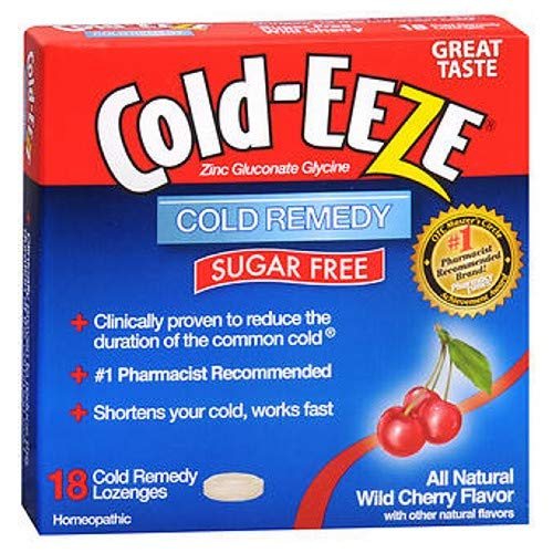 Cold-Eeze Lozenges Sugar Free, Wild Cherry Flavor 18 each by Cold-Eeze (Pack of 2)