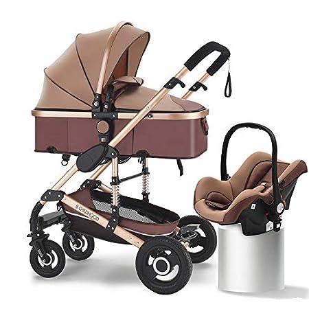 Amazon.com: Cochecito 3 en 1 para bebé, de alta visibilidad ...