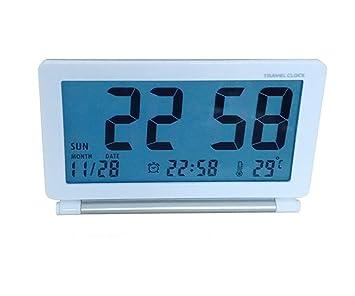 Xifande Reloj Digital Flip Soñoliento Plegable Portátil Ultradelgado Simple con Reloj De Viaje Calendario Luminoso Viaje Decoración del Hogar con ...