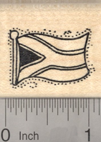 Flag of Republic of South Africa Rubber Stamp (Africa Stamp)