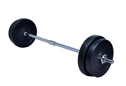 D&S Vertriebs GmbH - Juego de barras largas para pesas (30 ...