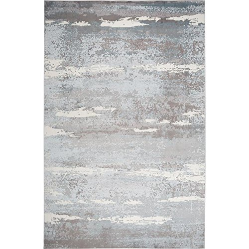 Brooksville Area Rug by Christian Siriano and Home Dynamix | Plush Polyester Indoor Rug | Modern Style, Designer Fashion | Plush, Soft, Comfy (5' x 7', Blue 6273)