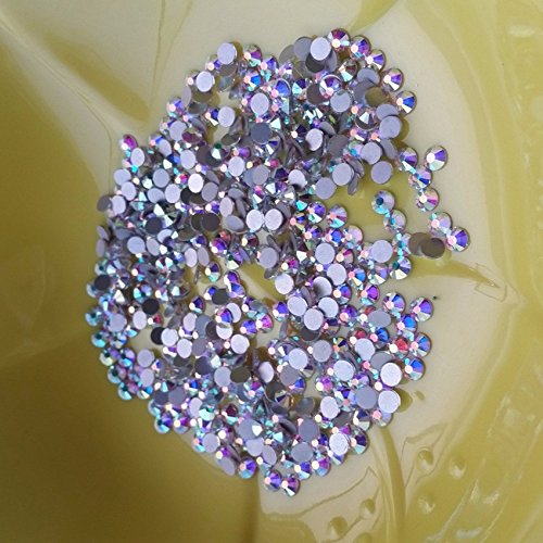 1440pcs SS12 Round Rhinestones Crystal AB 3mm Loose Beads For DIY Project Nail Art Crafts Scrapbook Shoes Bags Colorful Glass Gems Stones 3D Nails Decoration Non Self Adhesive (AB, SS12 -